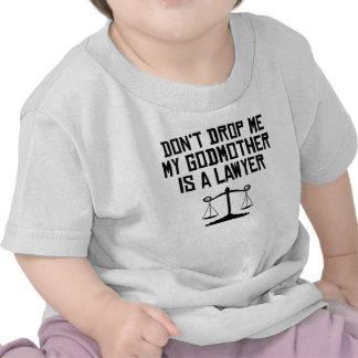 Mi madrina es abogado camisetas
