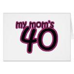 Mi mamá 40 felicitacion