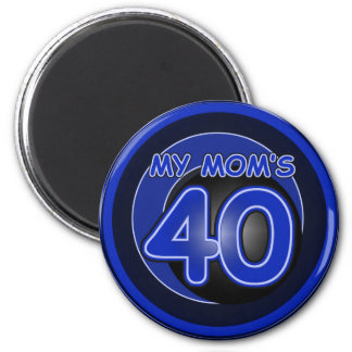 Mi mamá 40 y azul iman para frigorífico