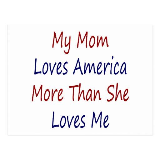 Mi mamá ama América más que ella me ama Postal