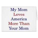 Mi mamá ama América más que su mamá Tarjetas