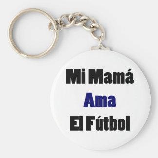 Mi Mama Ama El Futbol Key Chain