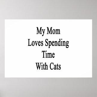Mi mamá ama el pasar de tiempo con los gatos impresiones