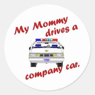 Mi mamá conduce un coche de compañía pegatina
