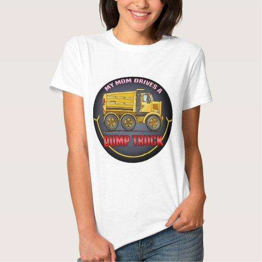 Mi mamá conduce una camiseta para mujer del camión playera