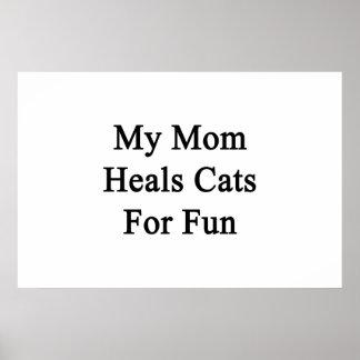 Mi mamá cura los gatos para la diversión poster