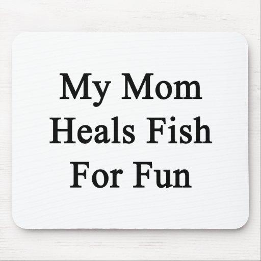 Mi mamá cura los pescados para la diversión tapetes de ratones