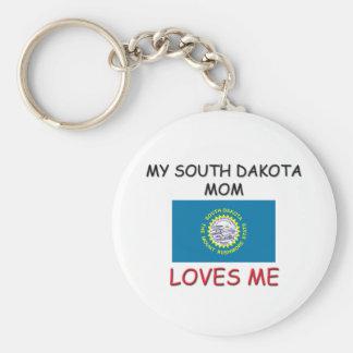 Mi mamá de Dakota del Sur me ama Llavero Personalizado