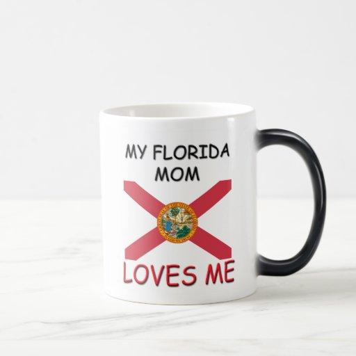 Mi mamá de la Florida me ama Tazas De Café