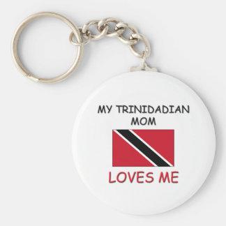Mi mamá de persona de Trinidad y Tobago me ama Llaveros Personalizados