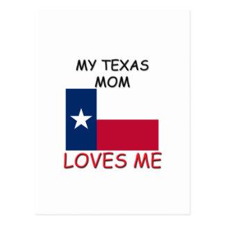 Mi mamá de Tejas me ama Tarjeta Postal