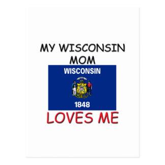 Mi mamá de Wisconsin me ama Postales