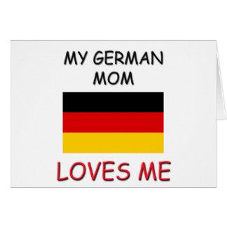Mi mamá del alemán me ama tarjetas