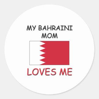 Mi mamá del bahreiní me ama pegatinas redondas