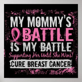 Mi mamá del cáncer de pecho demasiado 2 de la bata póster