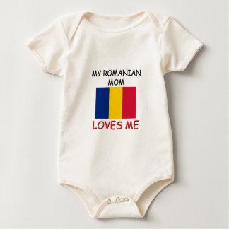 Mi mamá del rumano me ama body para bebé