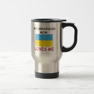 Mi mamá del ucraniano me ama taza de café