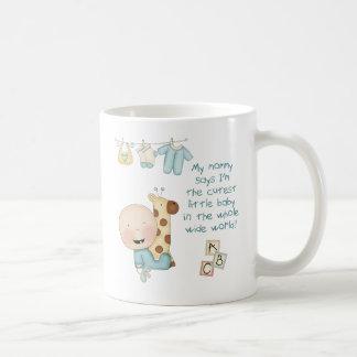 Mi mamá dice que soy el pequeño bebé más lindo (bo taza de café