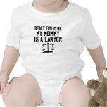 Mi mamá es abogado trajes de bebé