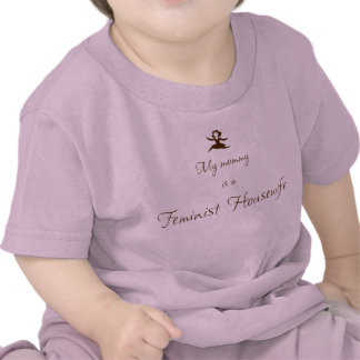 Mi mamá es ama de casa feminista camisetas