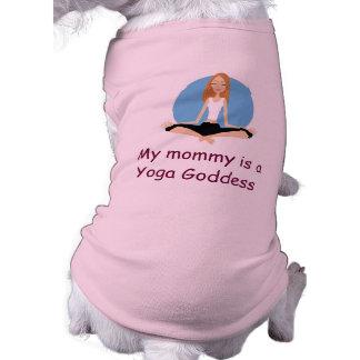 """""""Mi mamá es camisa del perrito de una diosa de la  Camiseta De Mascota"""
