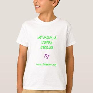 Mi mamá es camiseta fuerte de los niños del lupus