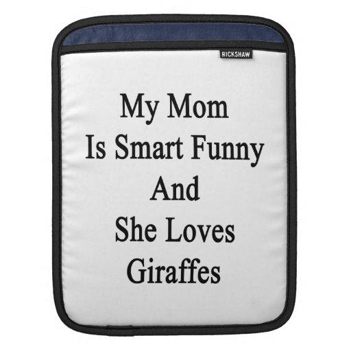 Mi mamá es divertida elegante y ella ama jirafas fundas para iPads