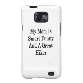 Mi mamá es divertida elegante y un gran caminante samsung galaxy s2 fundas