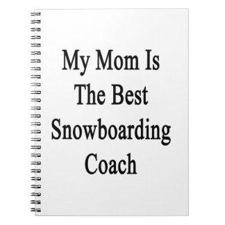 Mi mamá es el mejor coche de la snowboard libretas