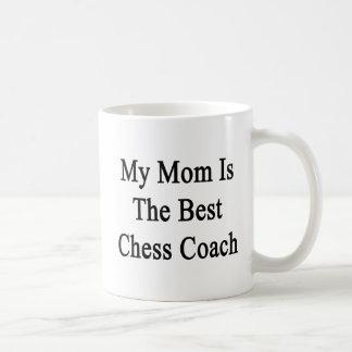Mi mamá es el mejor coche del ajedrez taza clásica