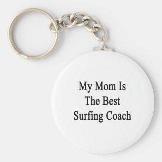 Mi mamá es el mejor coche que practica surf llavero personalizado