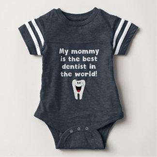 Mi mamá es el mejor dentista del mundo body para bebé