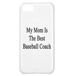 Mi mamá es el mejor entrenador de béisbol funda para iPhone 5C