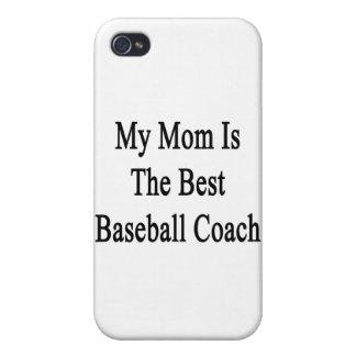 Mi mamá es el mejor entrenador de béisbol iPhone 4/4S carcasas