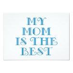 Mi mamá es el mejor invitación 12,7 x 17,8 cm