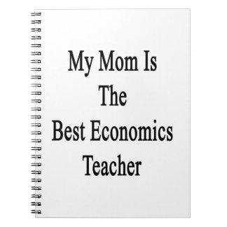 Mi mamá es el mejor profesor de la economía libros de apuntes con espiral