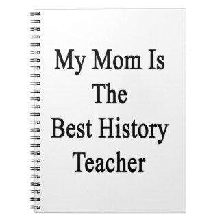 Mi mamá es el mejor profesor de la historia libros de apuntes con espiral