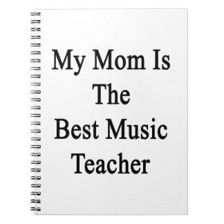 Mi mamá es el mejor profesor de música libretas espirales