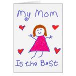 Mi mamá es el mejor tarjetas