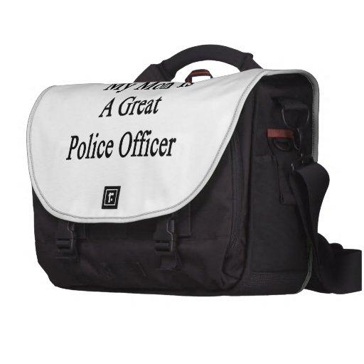Mi mamá es gran oficial de policía bolsas de ordenador