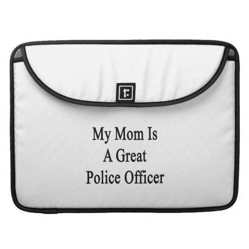 Mi mamá es gran oficial de policía fundas macbook pro