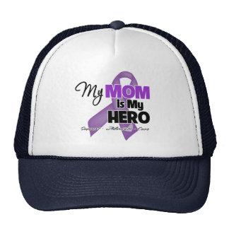 Mi mamá es mi héroe - cinta púrpura gorros bordados