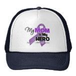Mi mamá es mi héroe - cinta púrpura gorras