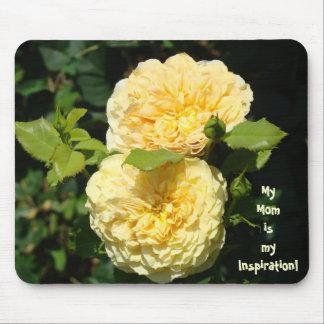 ¡Mi mamá es mi inspiración flores subiós mousepad Alfombrillas De Raton