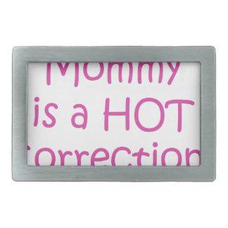 Mi mamá es oficial de correcciones caliente hebillas cinturon rectangulares