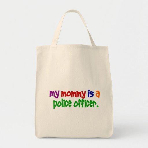 Mi mamá es oficial de policía 1 (primario) bolsa tela para la compra