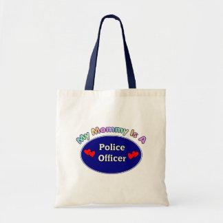 Mi mamá es oficial de policía bolsa lienzo