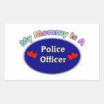 Mi mamá es oficial de policía etiqueta
