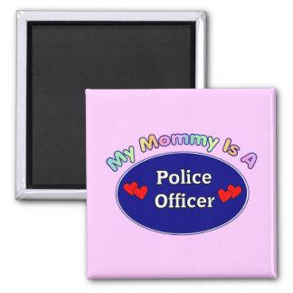 Mi mamá es oficial de policía imán para frigorifico