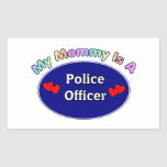 Mi mamá es oficial de policía rectangular altavoces
